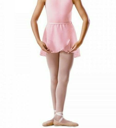 Bloch Girls Cross Over Mock Wrap Chiffon Skirt Dance Ballet Uniform BU601C Pink